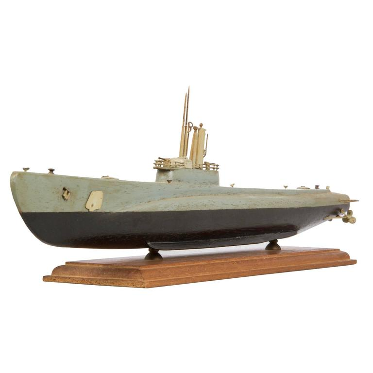 World War Ii Wooden Us Submarine Model At 1stdibs