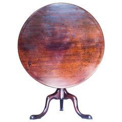 Superb 18th Century English Mahogany Tripod Table, circa 1750