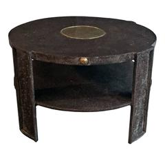 1980s Bronze Two-Tier Side Table
