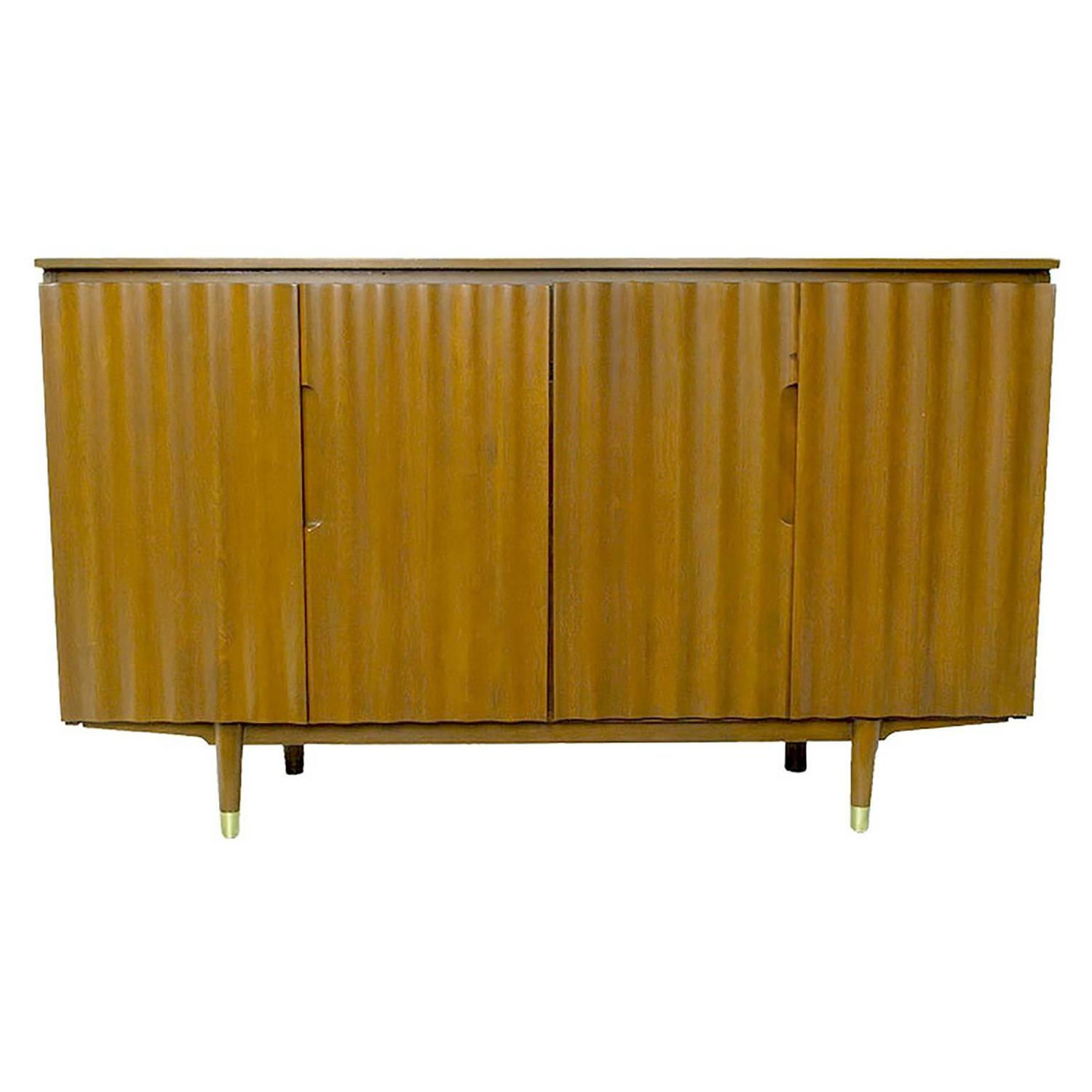 Imperial furniture - Jan Kuypers Wave Front Birch Sideboard By Imperial Of Canada