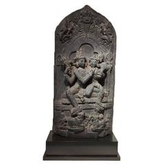 Stone Sculpture of Shiva and Parvati