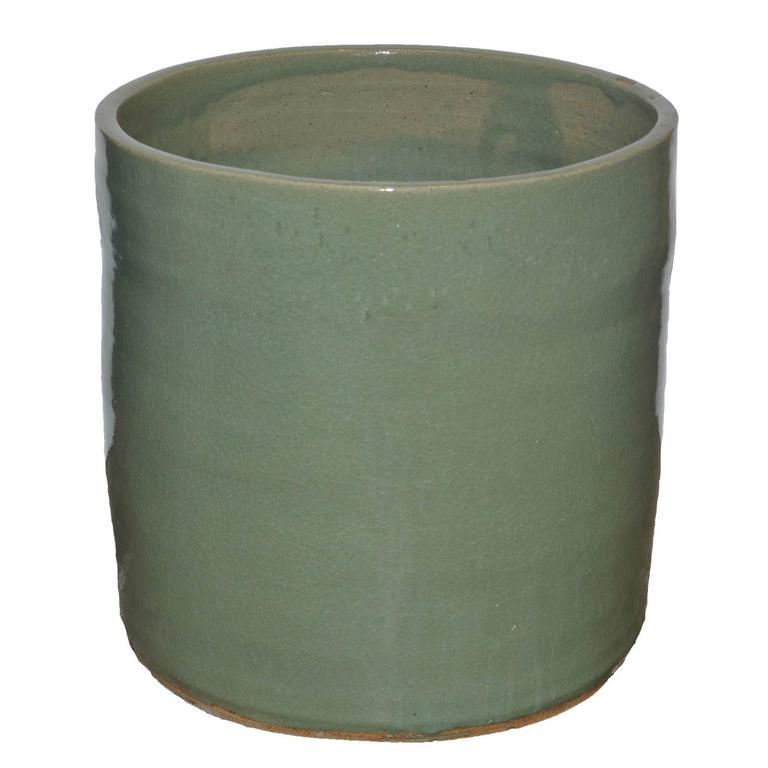 """Artisan Series Glazed Terra Cotta Planter """"Mente"""""""