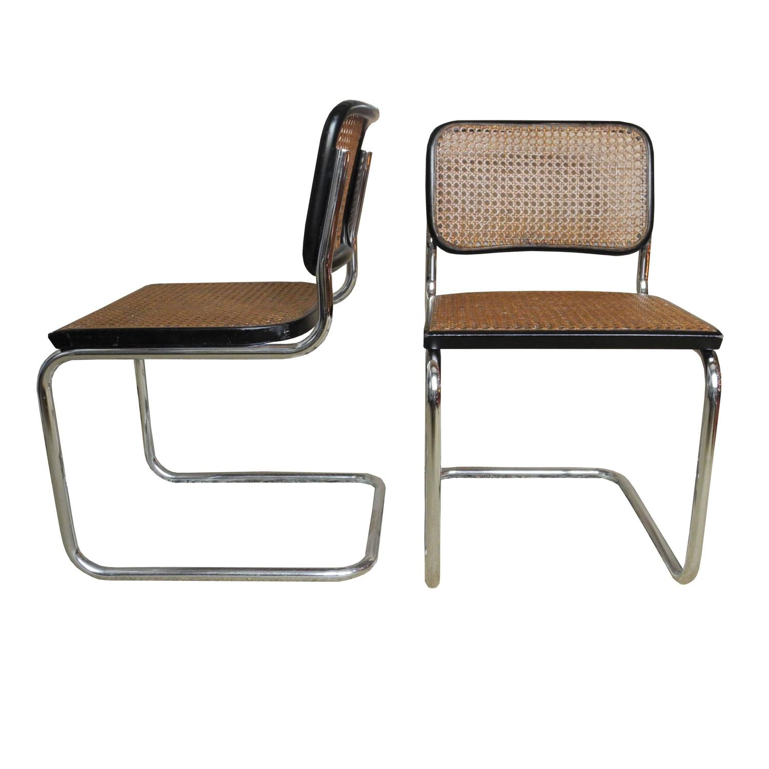 Pair of Vintage Bauhaus Cesca Chairs by Marcel Breuer for Stendig