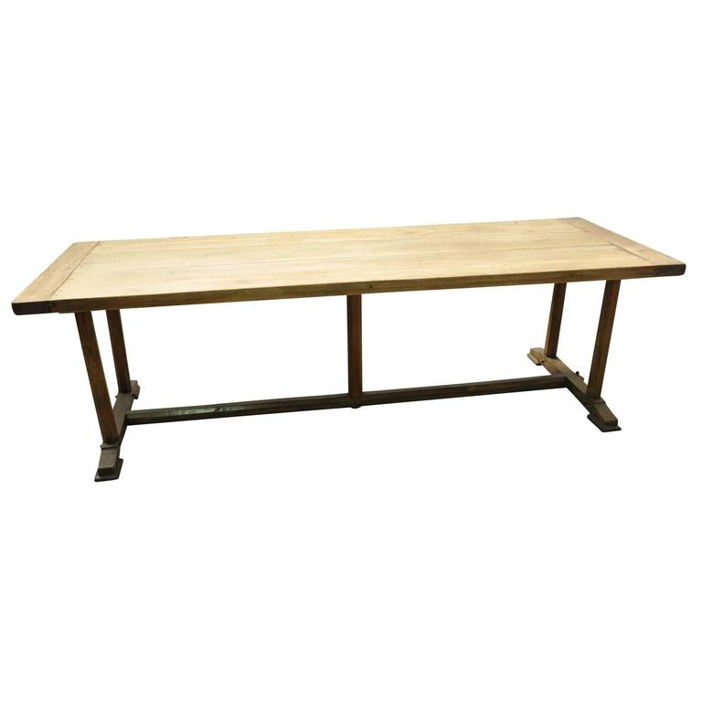 French 19th Century Directoire Style Farm Table or Trestle Table at 1stdibs