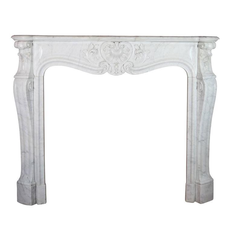 19th Century Carrara Marble Fireplace Mantel