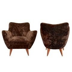 Pair of Perla Armchairs Attributed to G. Veronesi for Isa