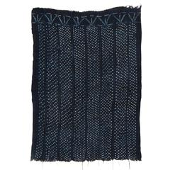 Midnight Blue Vintage Indigo Dyed Dogon Wrap, Mali, West Africa