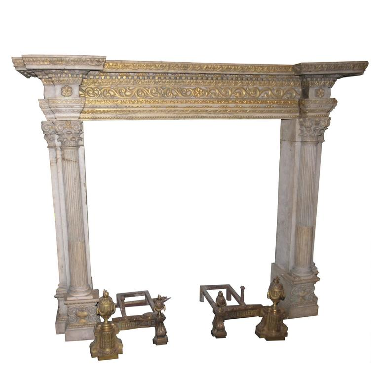 Antique Pietra di Signa Fireplace Mantel