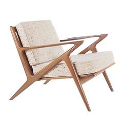 Sculptural Walnut Lounge Chair by Poul Jensen for Selig Danish Modern