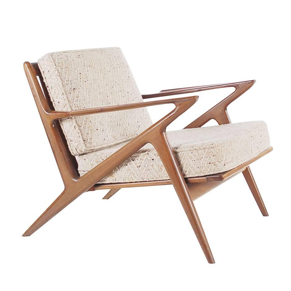 Sculptural Walnut Lounge Chair by Poul Jensen for Selig Danish Modern at 1stdibs