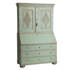 Swedish Gustavian Period Two-Part Slant Front Secretary, circa 1780