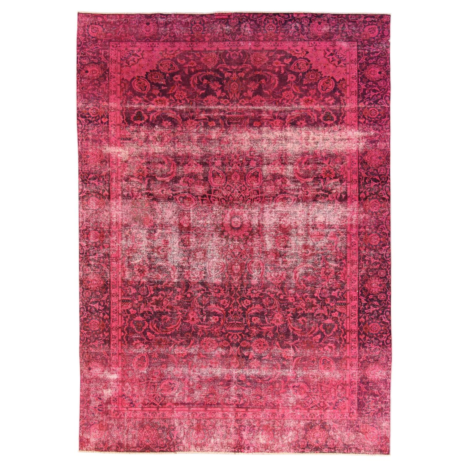 Pink Overdyed Rug At 1stdibs