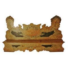 Rare Beautiful Bench Veneta, 1600