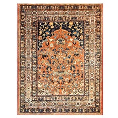 Antique Persian Persian Tabriz Rug