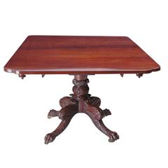 American Federal Breakfast Table in Mahogany with Drop-Leaves, circa 1815
