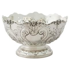 Sterling Silver Presentation Bowl by Charles Stuart Harris, Antique Victorian