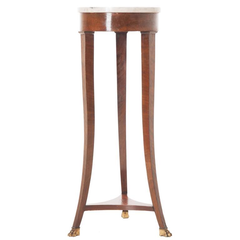 French 19th Century Mahogany Marble-Top Table
