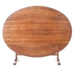 French 19th Century Walnut Wine Tasters Table