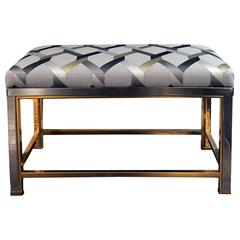 Vintage Brass and Chrome Bench