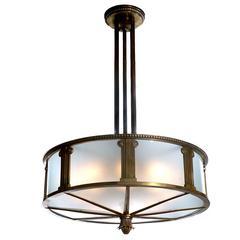 Heavy Bronze Bank Lamp