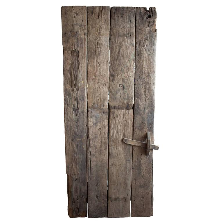 Single French Oak Door With Ironwork At 1stdibs