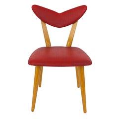 Red Heart Midcentury Childrens Chair, Austria, 1950s