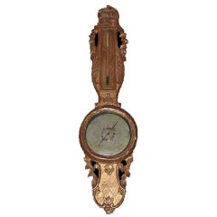 Louis XVI Style Giltwood Thermometer/ Barometer