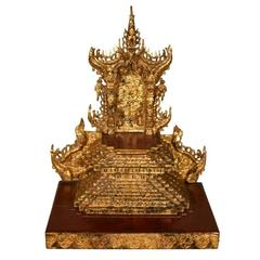 Burmese Giltwood Table Shrine