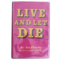 Live And Let Die by Ian Fleming, 1st Edition, Ninth Impression with DJ, 1963