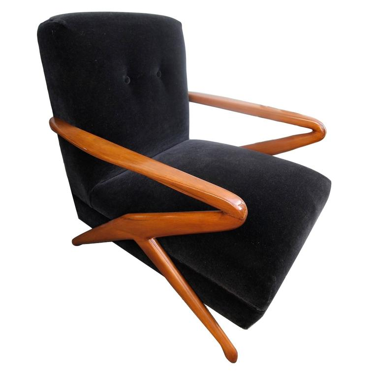 Pair of 1960s Armchairs Attributed to Carlo de Carli 1