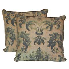 Pair of Fortuny Pillows in the Glicine Pattern