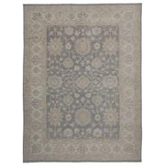 Transitional Rug with Oushak Design 'Neutral Bliss'