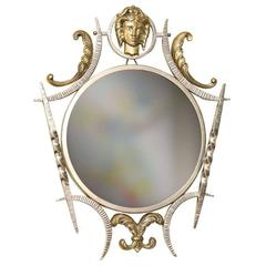 G. Poillerat Style French Art Deco Metal Mirror