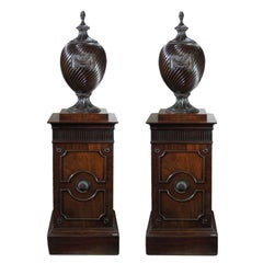 Pair of 18th Century Irish Adam Style Wine Coolers on Stands