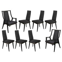 """Set of Eight """"Classic"""" Dining Chairs by Harvey Probber"""