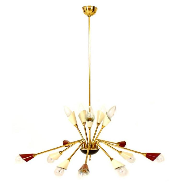 Chandelier Italy 1950 At 1stdibs