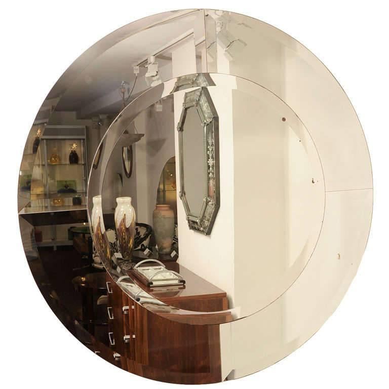Circular Karl Springer Mirror