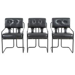 """Set of Six Guido Faleschini """"Tucroma"""" Chairs for Pace"""