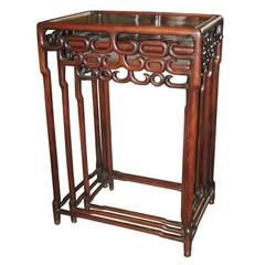 Set of Three Rosewood Chineese Stacking Tables