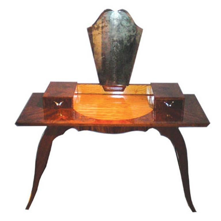 French Art Deco Dressing Table Or Vanity For Sale At 1stdibs