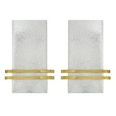 Murano Glass and Brass Sconces by Doria Leuchten