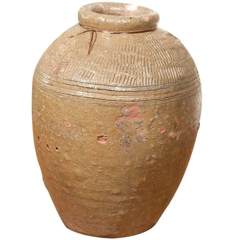 Glazed Terracotta Chinese Rice Wine Storage Pot