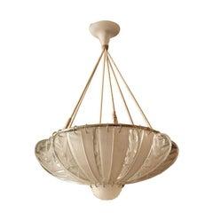 "Rene Lalique ""Hirondelles"" Chandelier"