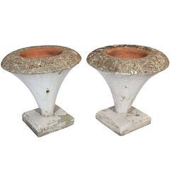 "Large ""Funnel"" Cast Stone Planters"