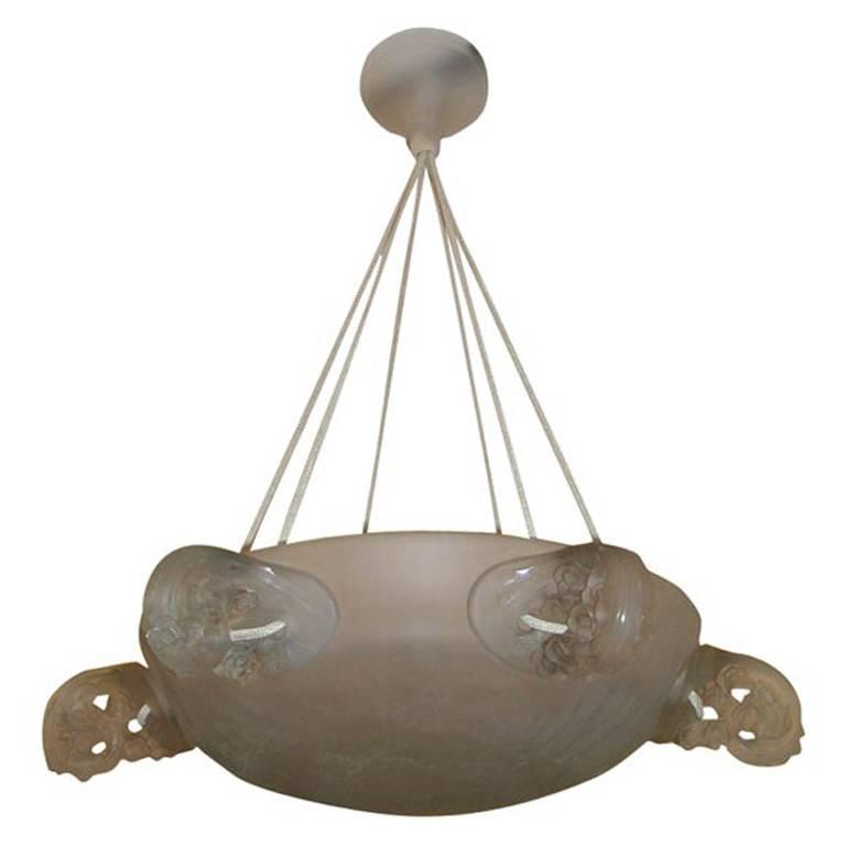"René Lalique ""Eglantines"" Chandelier"