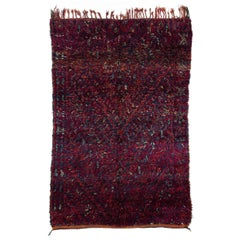 Vintage Beni Mguild Moroccan Rug