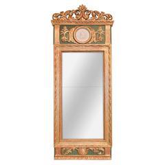 19th Century Swedish Carved Mirror
