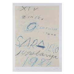 Sarajevo Lithograph by Cy Twombly