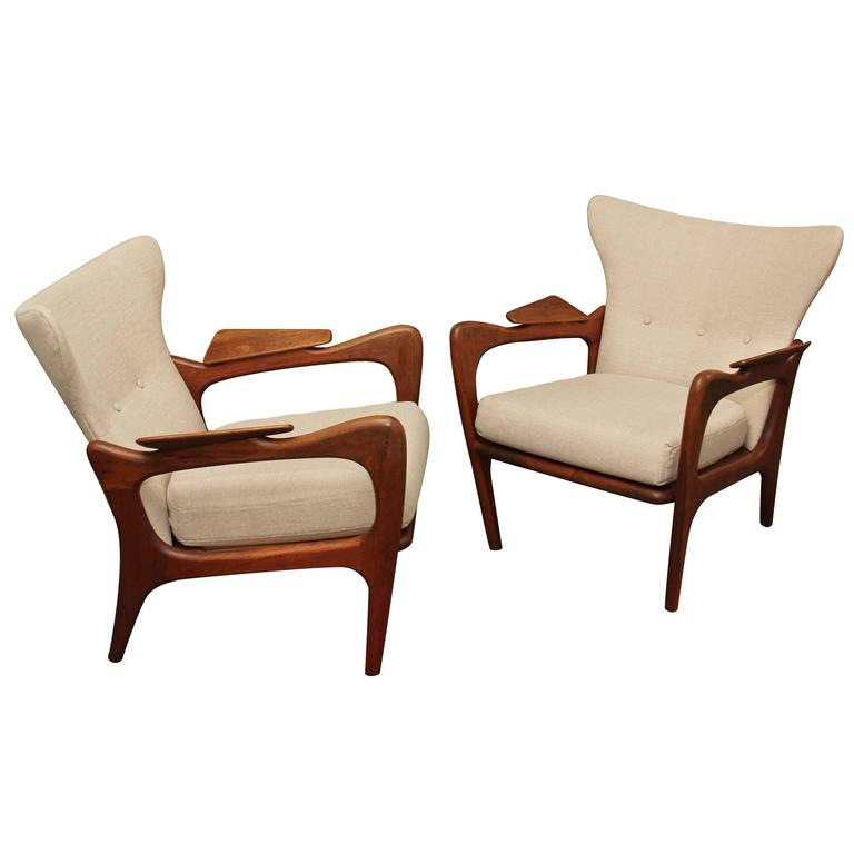 Pair of Adrian Pearsall Chairs 1