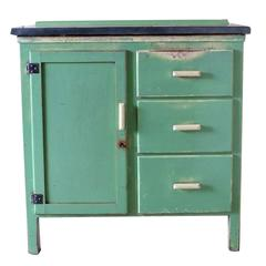 Vintage Zinc-Topped Cupboard